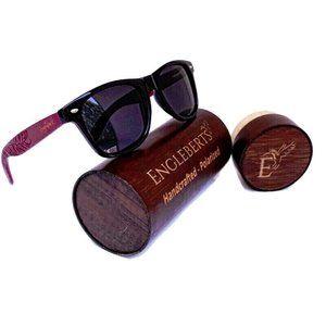 Rosewood Sunglasses, Polarized, With Case
